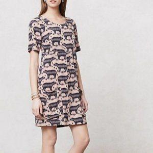Anthropologie Maeve Bear Print Tunic Size 0